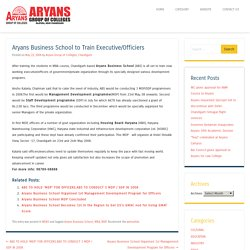 Aryans Business School to Train Executive/Officiers