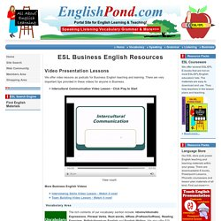 Business English Exercises, ESL Business English Resources