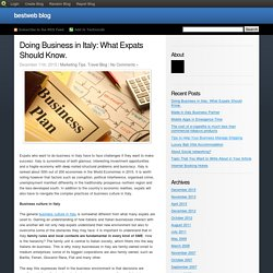 Doing Business in Italy: What Expats Should Know.