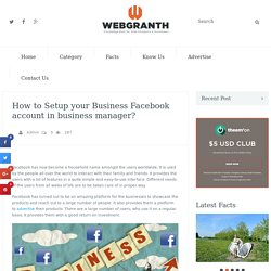 How to Setup your Business Facebook account in business manager?