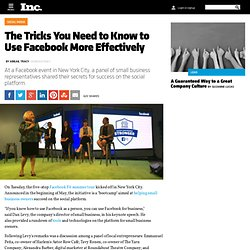 using facebook effectively in small business At a facebook event in new york city, a panel of small business representatives shared their secrets the tricks you.