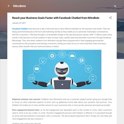 Reach your Business Goals Faster with Facebook Chatbot from NitroBots