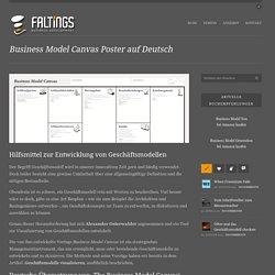 Business Model Canvas Poster auf Deutsch › FALTINGS - Business Development