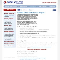Business School Loans - Federal and Private Graduate Business School Loans
