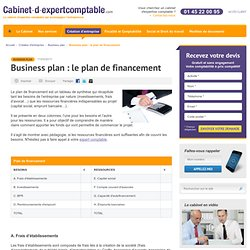 Business plan : le plan de financement