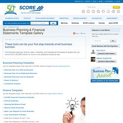 Business Plans & Financial Statements Template Gallery