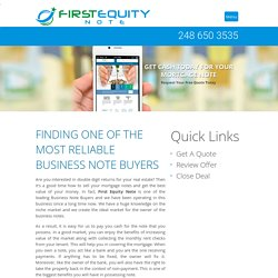 Business Note Buyers