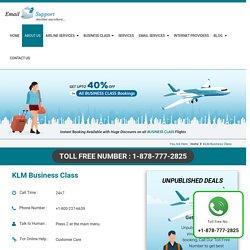 KLM Business Class Flights– Booking Deals & Offers