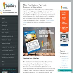 Make Your Business Flyer Look Professional. Here's How.