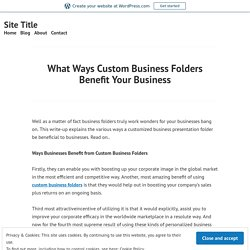 Custom Business Folders Printing Company in Dallas and Fort Worth