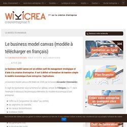 Business model canvas en français WORD à télécharger
