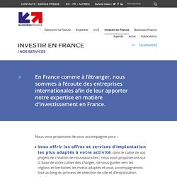 Business France - Nos services