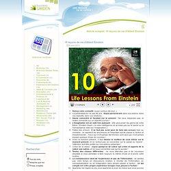 10 leçons de vie d'Albert Einstein