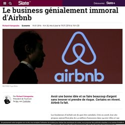 Le business génialement immoral d'Airbnb