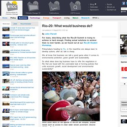 Big business gives its Rio+20 recommendations