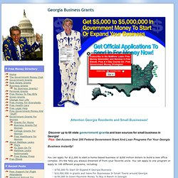 Georgia Business Grants | Free Money | Government Grants | Matthew Lesko
