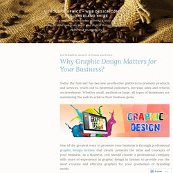 Why Graphic Design Matters for Your Business? – Nitrous Graphics – Web Design Company in Sutherland Shire