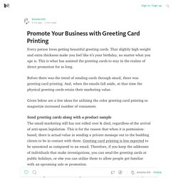Promote Your Business with Greeting Card Printing