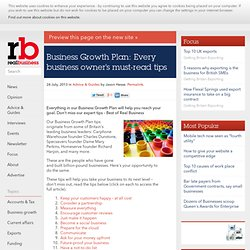 Business Growth Plan: every business owner's must-read tips