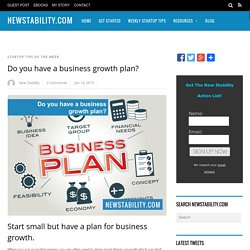 Do you have a business growth plan? - NewStability.com