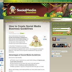 How to Create Social Media Business Guidelines