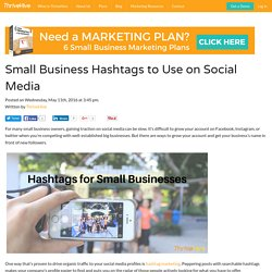 Small Business Hashtags To Use On Social Media