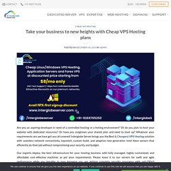 Take your business to new heights with Cheap VPS Hosting plans