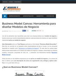 Business Model Canvas: Herramienta para diseñar Modelos de Negocio