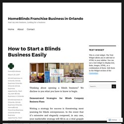 How to Start a Blinds Business Easily