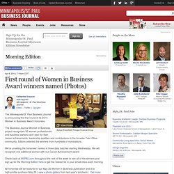 MSPBJ Women in Business 2014 honorees, Day 1 - Minneapolis / St. Paul Business Journal