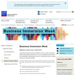 Business Immersion Week