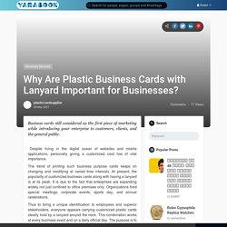 Buy Customised Plastic Cards - Customised Lanyard