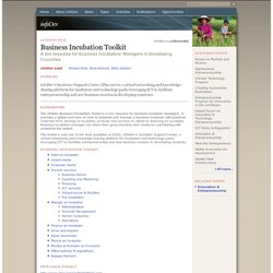 Business Incubation Toolkit
