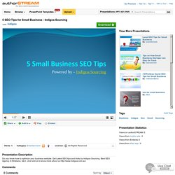 5 SEO Tips for Small Business - Indigoa Sourcing