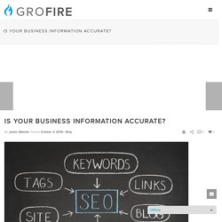 Is your business information accurate?