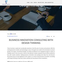 Business Innovation Consulting With Design Thinking