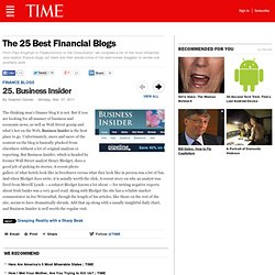 Business Insider - The 25 Best Financial Blogs