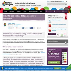 How to use social data across your business
