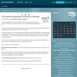 The Search for Business Insurance in Australia