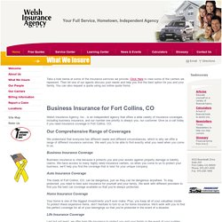 Get Quality Business Insurance in Fort Collins, CO