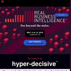 Conference - Real Business Intelligence - See beyond the noise