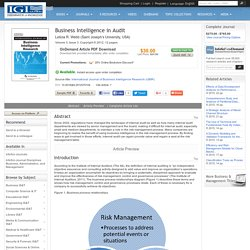 Business Intelligence in Audit: Business IS&T Journal Article