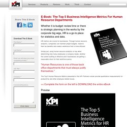 eBook: The Top 5 Business Intelligence Metrics For HR