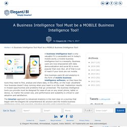 A Business Intelligence Tool Must be a MOBILE Business Intelligence Tool!