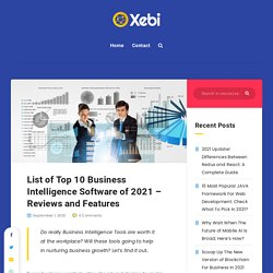 10 Best Business Intelligence Tools - List of BI Software in 2021 Reviews