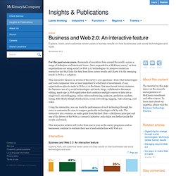McKinsey Web 2.0 Visualization