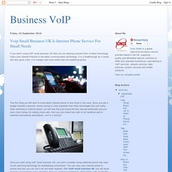 Voip Small Business UK Is Internet Phone Service For Small Needs