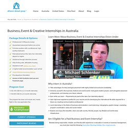 Business, Event & Creative Internships in Australia