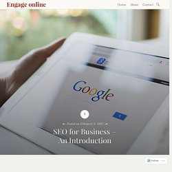 SEO for Business – An Introduction – Engage online