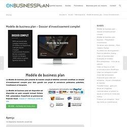 Modèle de business plan - Dossier d'investissement complet